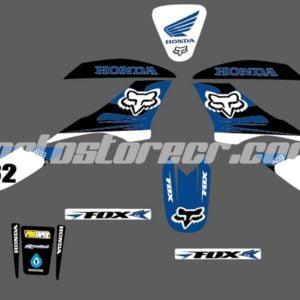 Diseño Bross Fox Azul, Negro y Blanco
