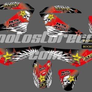 Calcos Bross RockStar MetalMulisha 125cc