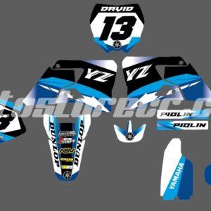 Calcas Yamaha YZ 250 – Diseño Celeste