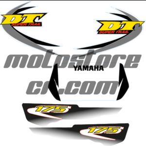 Calcos Boomerang Gris Yamaha DT 175cc