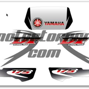 Kit Adhesivos Boomerang Gris Yamaha DT 175cc