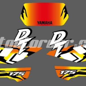 Gráficos Yamaha DT 175cc Cuadros Amarillo