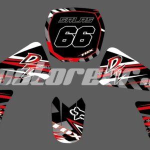 Fox Rojo Adhesivos Yamaha DT 175cc
