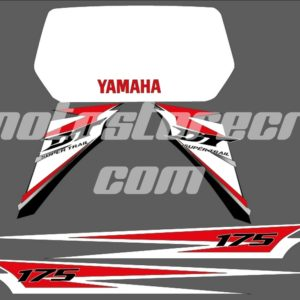 Calcas Kit Yamaha DT 175 cc Rojo Líneas