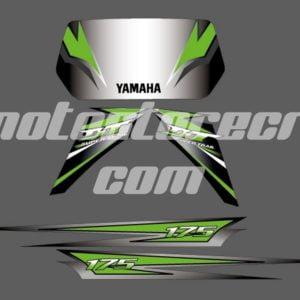Calcos Yamaha DT 175cc Verde gris
